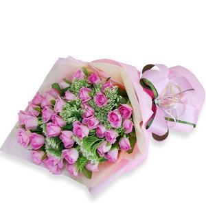 핑크로즈꽃다발